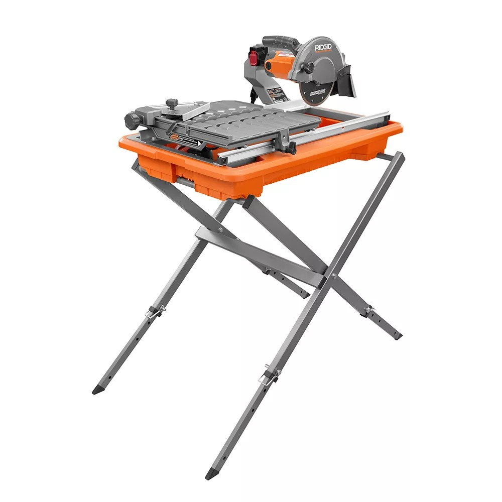 9 amp 7 inch portable wet tile saw with stand