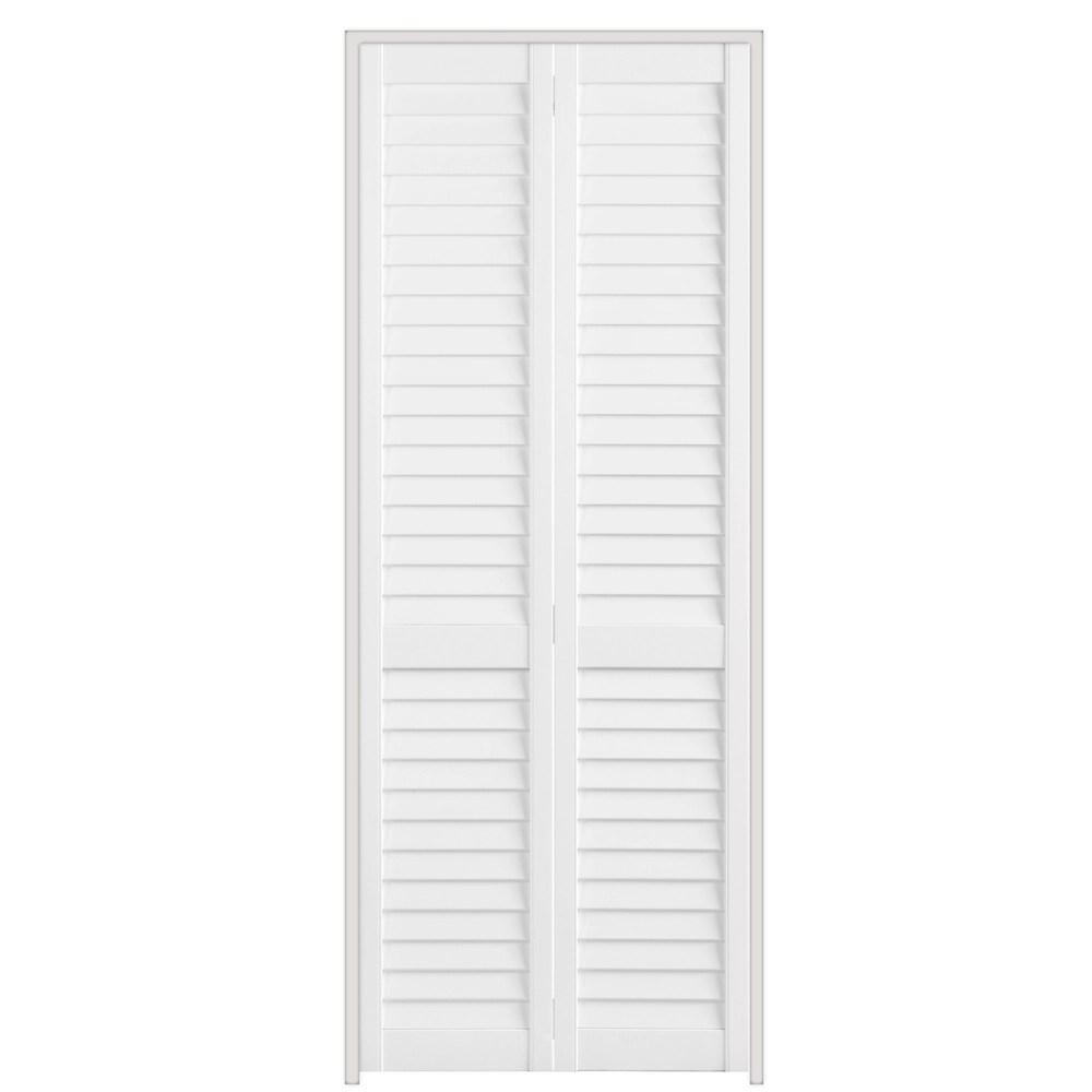 24 inch x 79 inch full louvre plantation bifold door