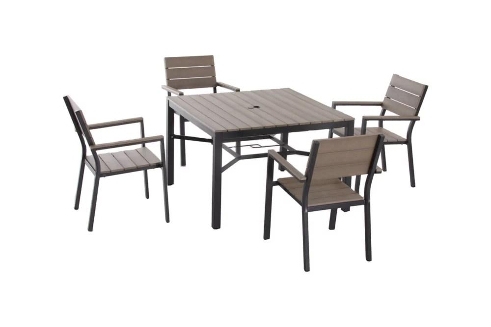 northridge 5 piece aluminium polywood patio dining set