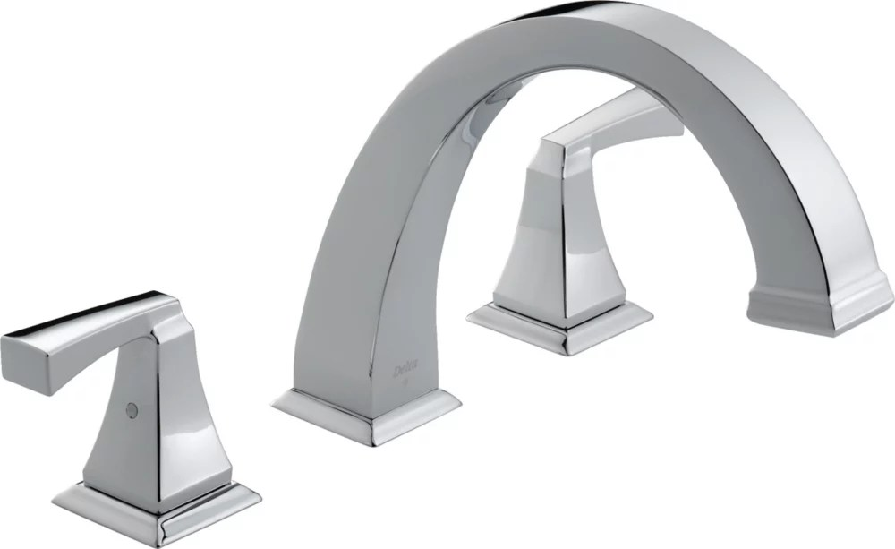 dryden 2 handle roman bath faucet only in chrome finish valve sold separately