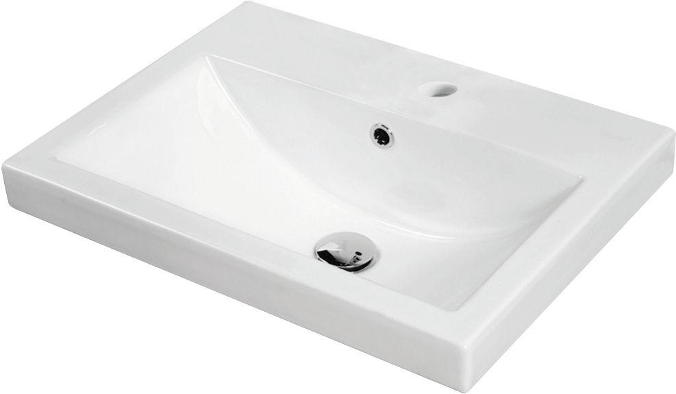 sharon 22 inch x 2 25 inch x 16 5 inch 1 hole square ceramic bathroom sink