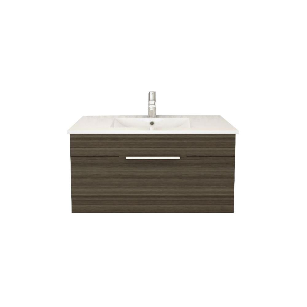 Cutler Kitchen Bath Textures Collection 34 44 Inch W Vanity In Brown The Home Depot Canada
