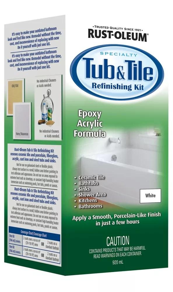 tub tile refinishing kit in gloss white 920 ml