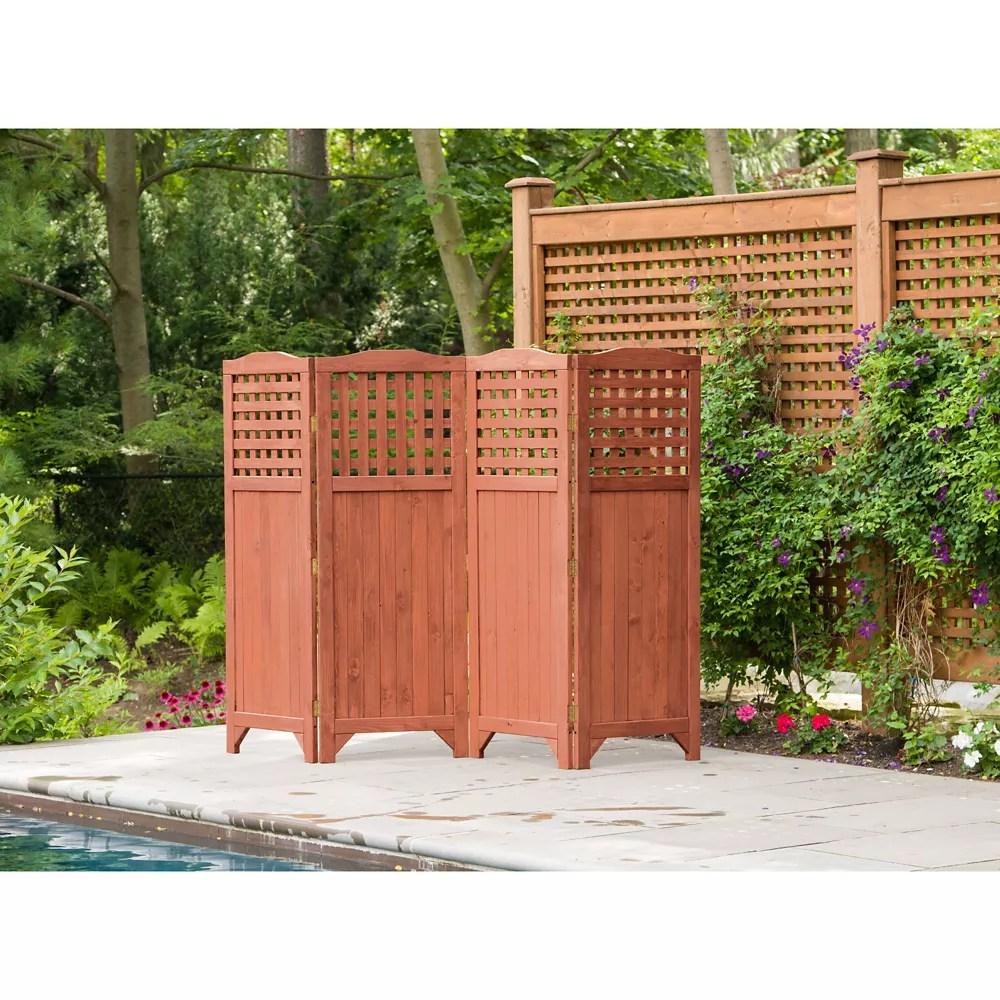folding patio and garden privacy screen