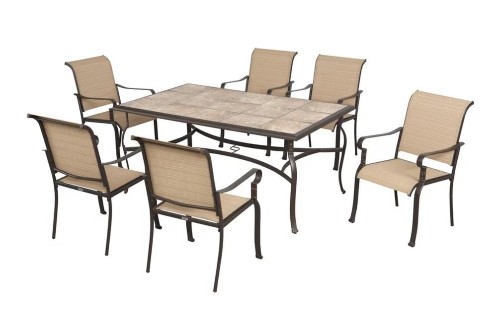 belleville 7 piece patio dining set
