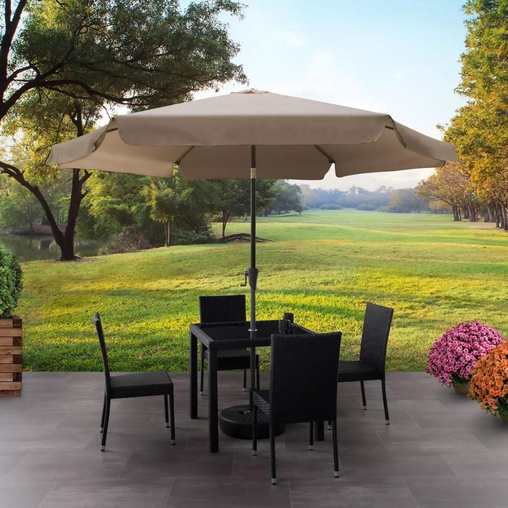 https www homedepot ca product corliving 10 ft round tilting sandy brown patio umbrella 1000817080