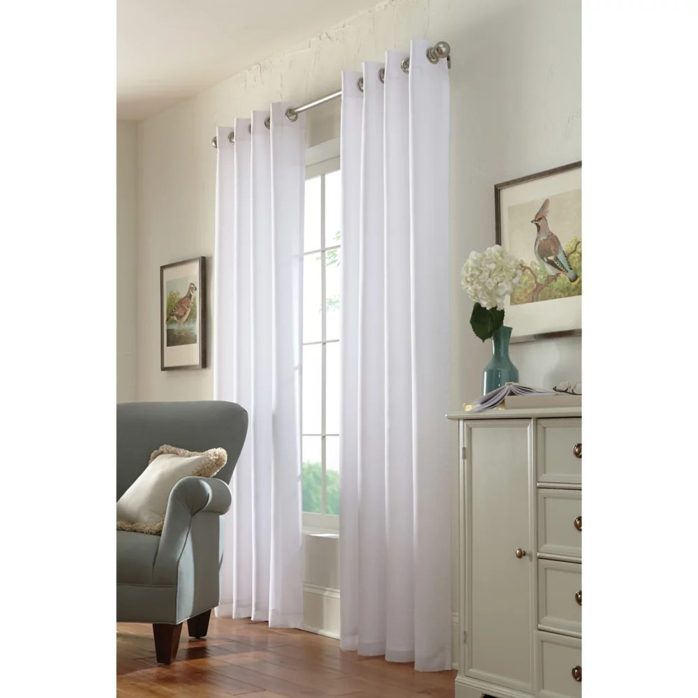calisse sheer grommet curtain panel 54 w x 84 l in white