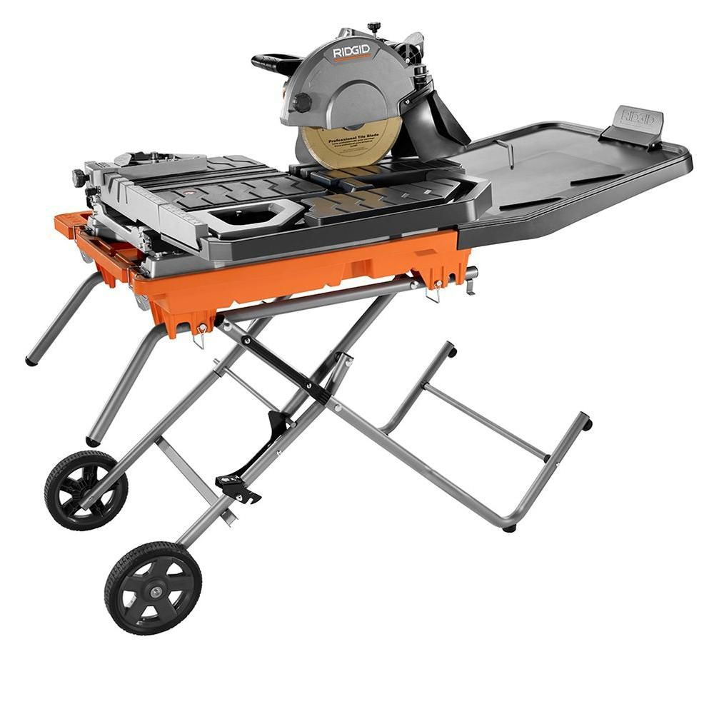 10 in wet tile saw with stand