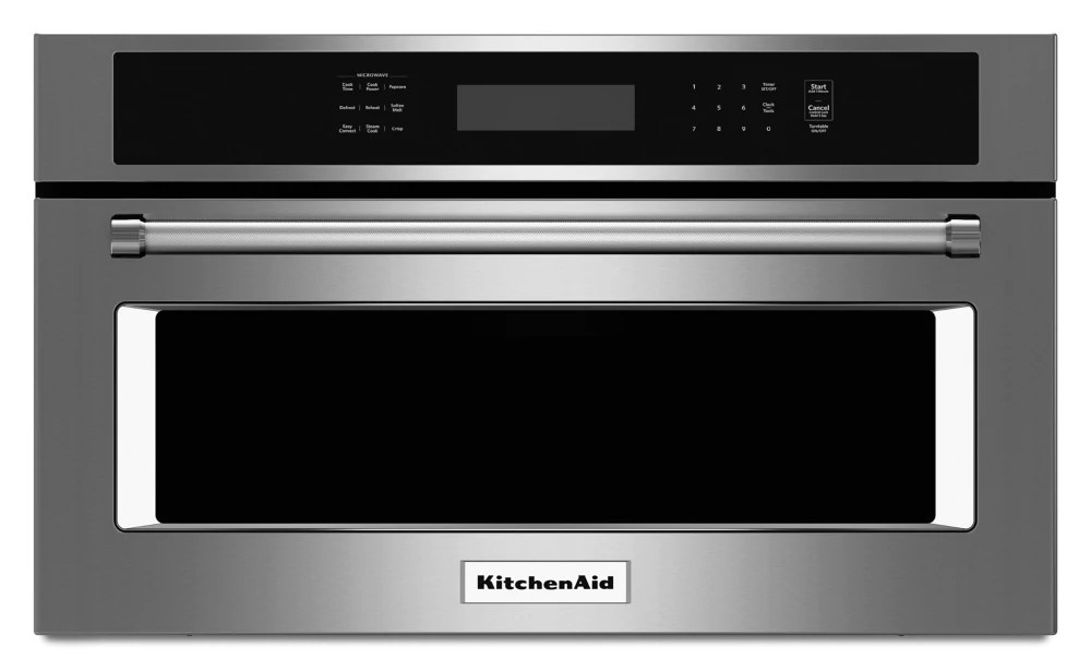 30 inch 1 4 cu ft built in microwave with convection in stainless steel