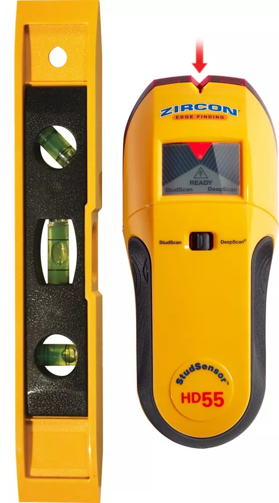 Zircon Stud Sensor Hd55 Stud Finder With Bonus Level The Home Depot Canada
