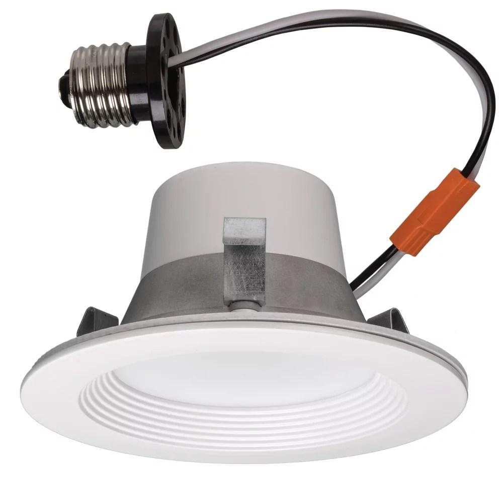 matte white recessed retrofit smart led downlight 4 inch energy star