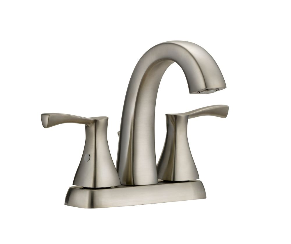 jaci 2 handle 4in centerset bath faucet in brushed nickel finish