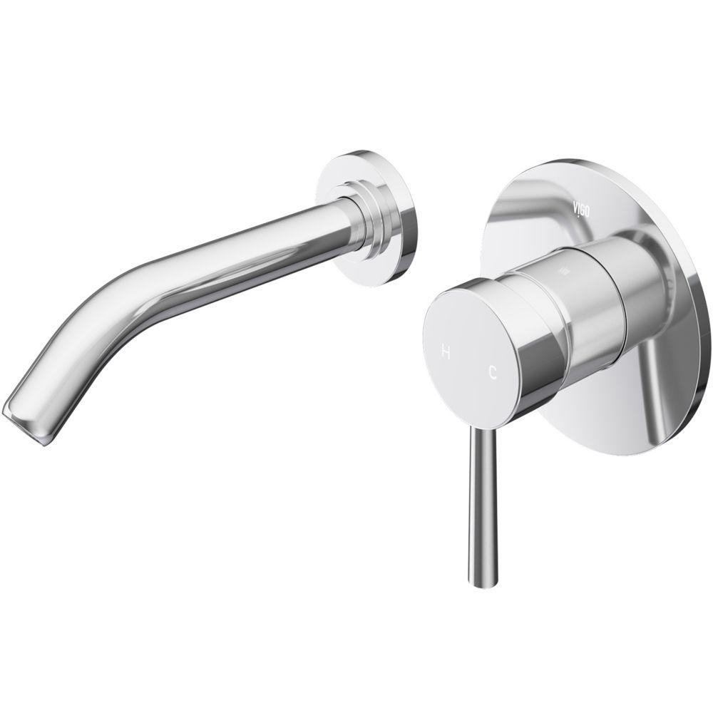 olus single hole single handle wall mount vessel bathroom faucet in chrome