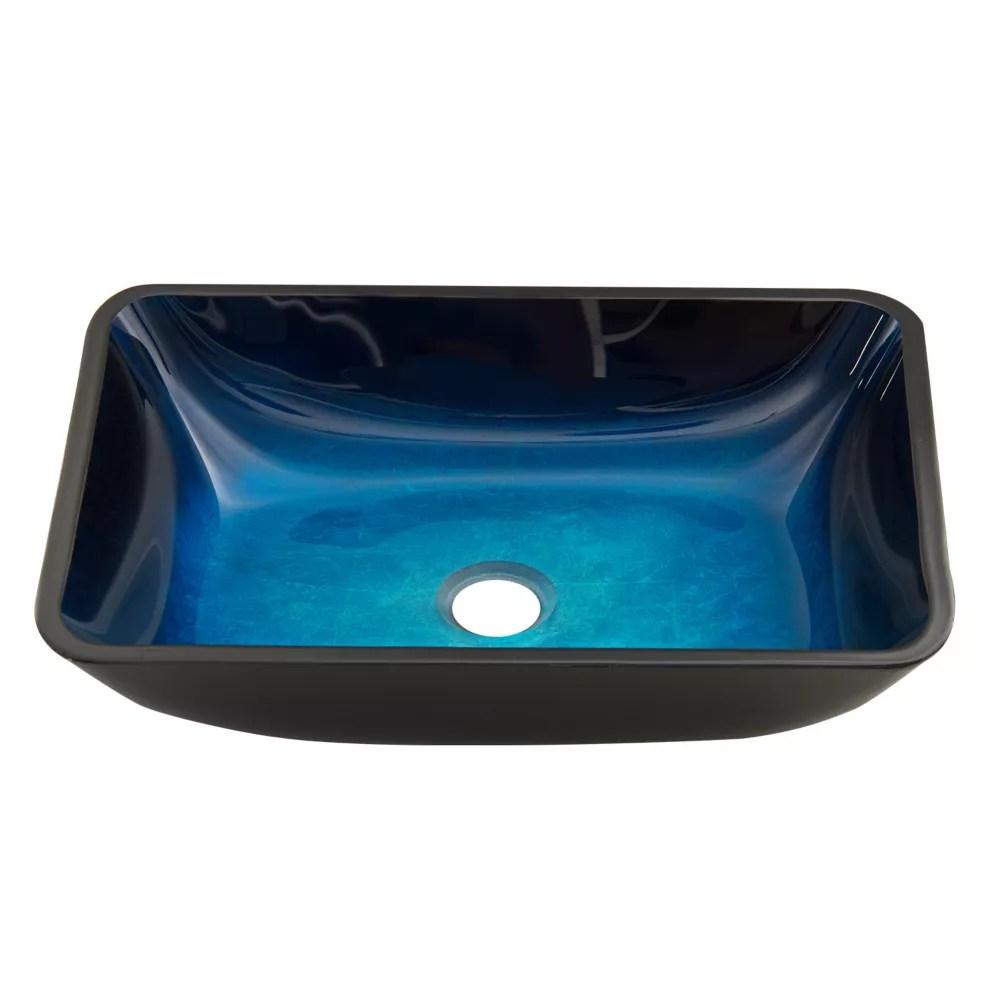 turquoise water handmade glass vessel bathroom sink