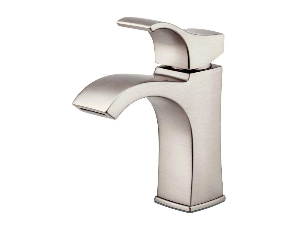 venturi 4 inch centreset single control bathroom faucet in brushed nickel finish