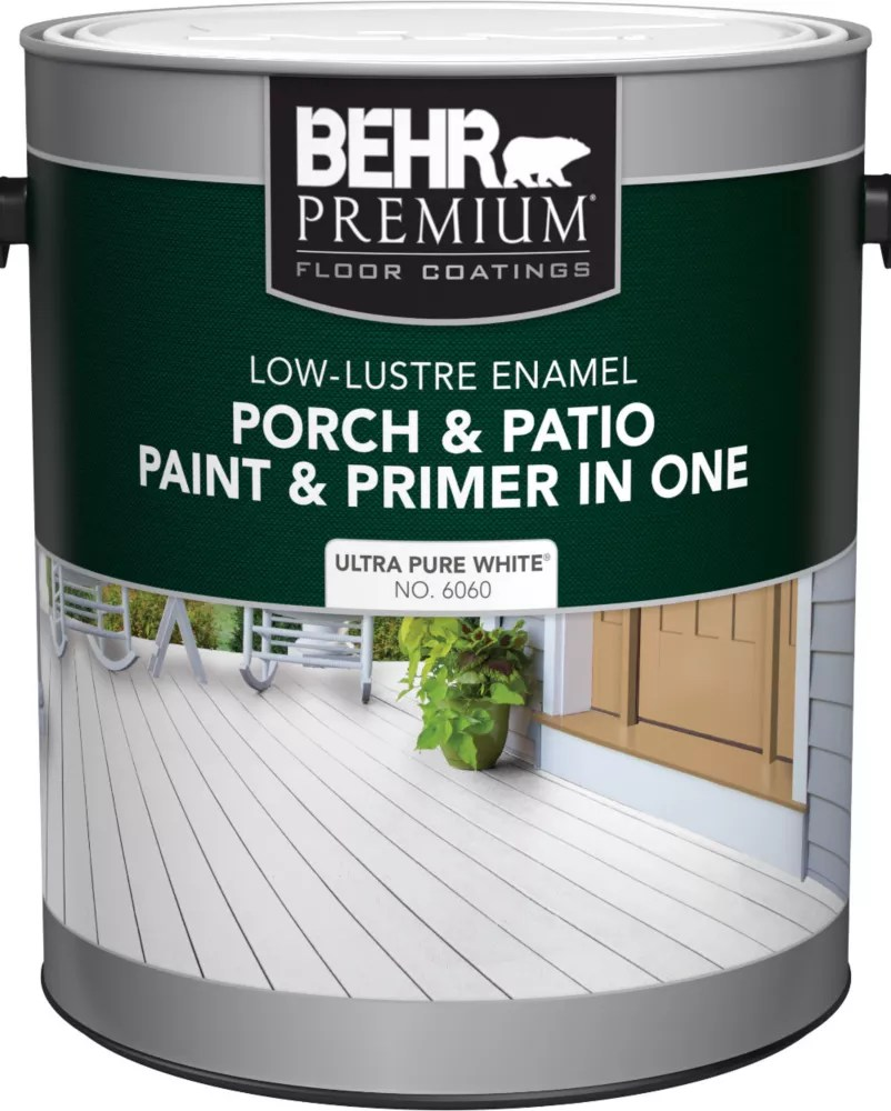 porch patio paint primer in one low lustre enamel ultra pure white 3 7 l