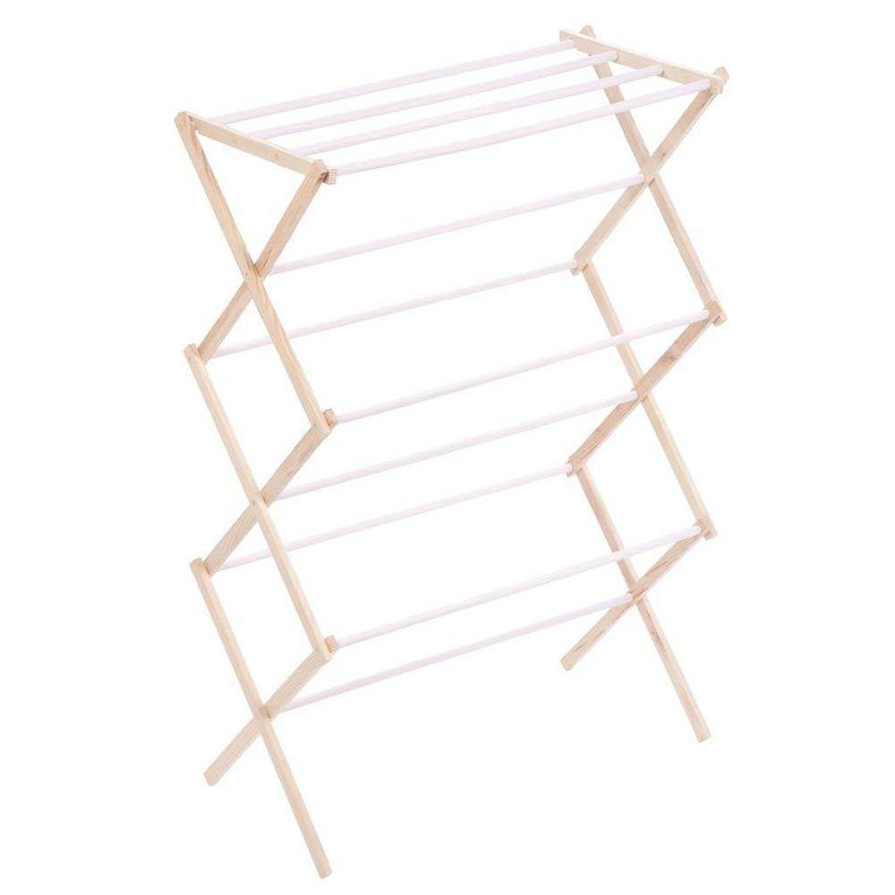 wood accordion drying rack