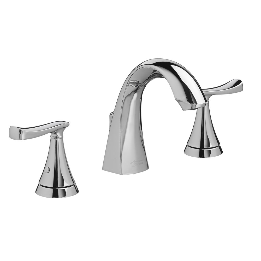 chatfield widespread 8 inch 2 handle high arc bathroom faucet with lever handles in chrome