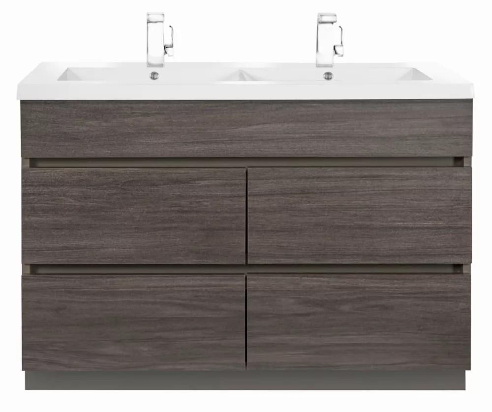 Cutler Kitchen Bath Boardwalk 48 Inch Vanity Cabinet In Karoo Ash Sundown The Home Depot Canada