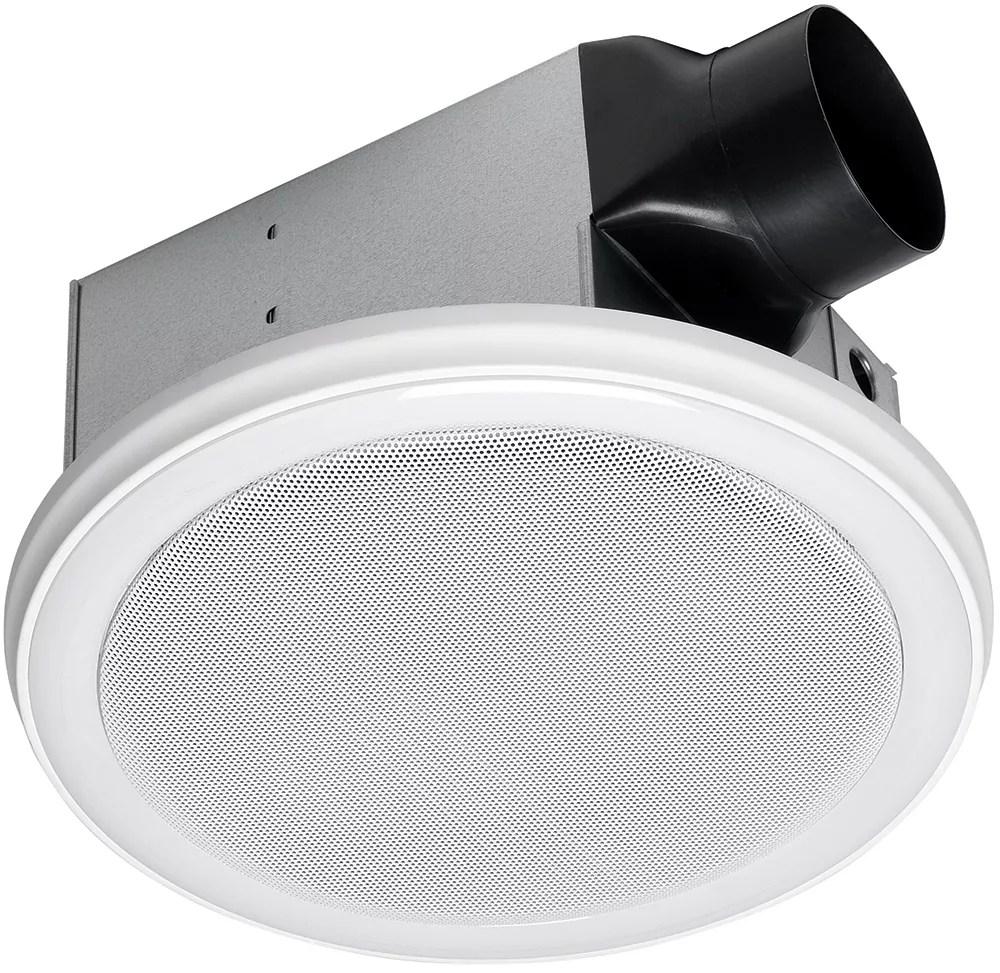 bath fan speaker in one with led light