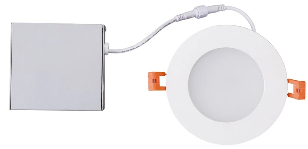 4 inch integrated soft white 3000k dimmable led recessed light kit in white with junction box energy star