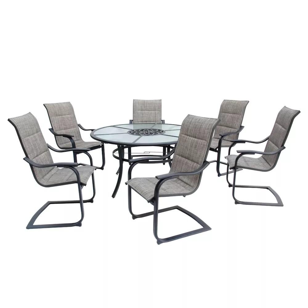 salle a manger de jardin avec fauteuils bercants rembourres st lucia