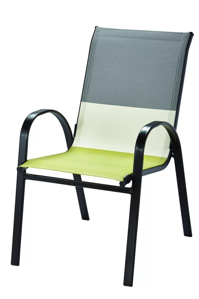 patio sling stacking chair in multi colour