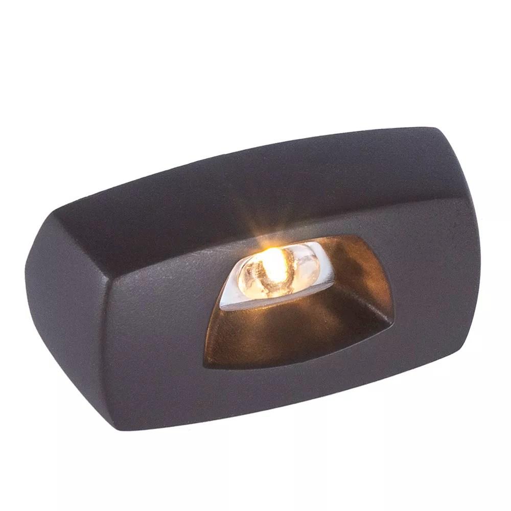 low voltage black cast aluminum led deck light