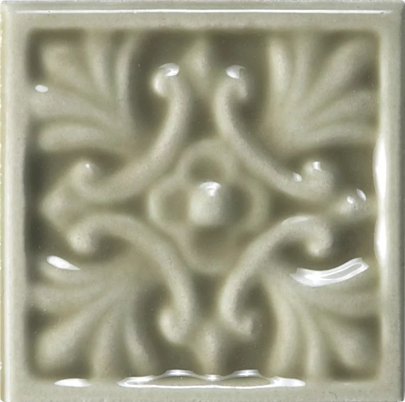 wolfe creek 2 inch x 2 inch decorative tile in sage