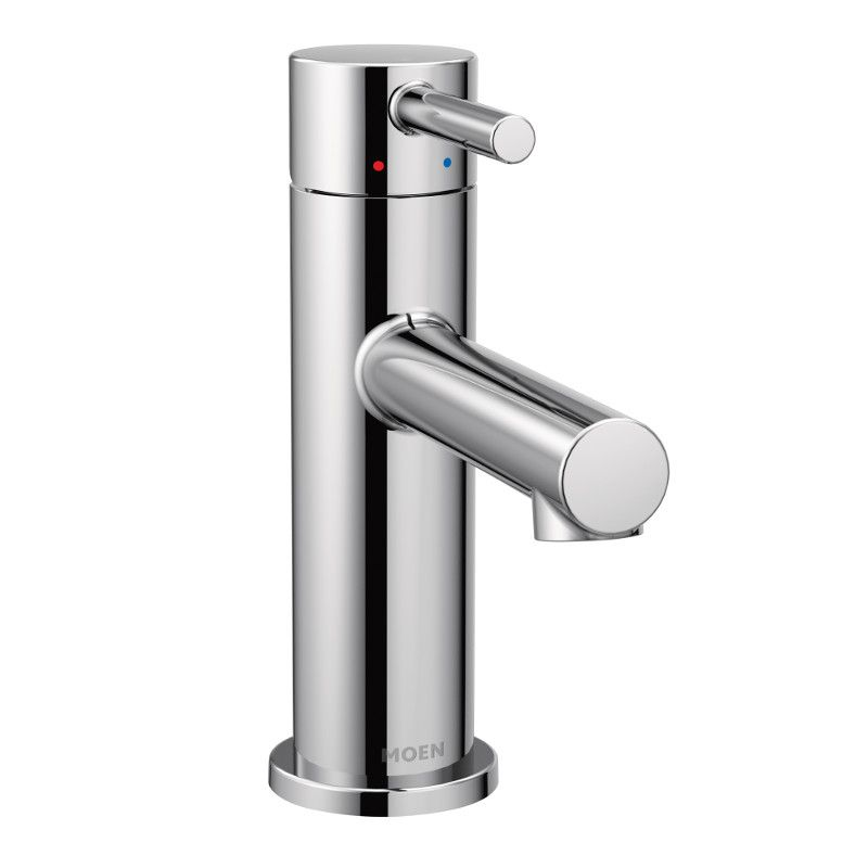 aligner un robinet de salle de bain a poignee unique en chrome