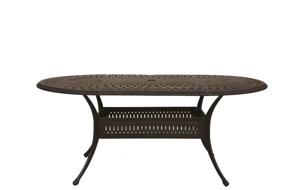 ophelia 42 inch x 87 inch oval patio table