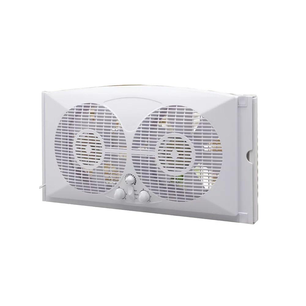 9 inch twin window fan