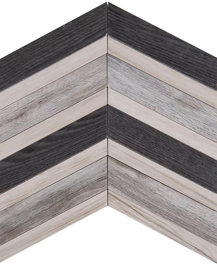 urban chevron 15 inch x 15 inch glazed ceramic pattern floor and wall tile