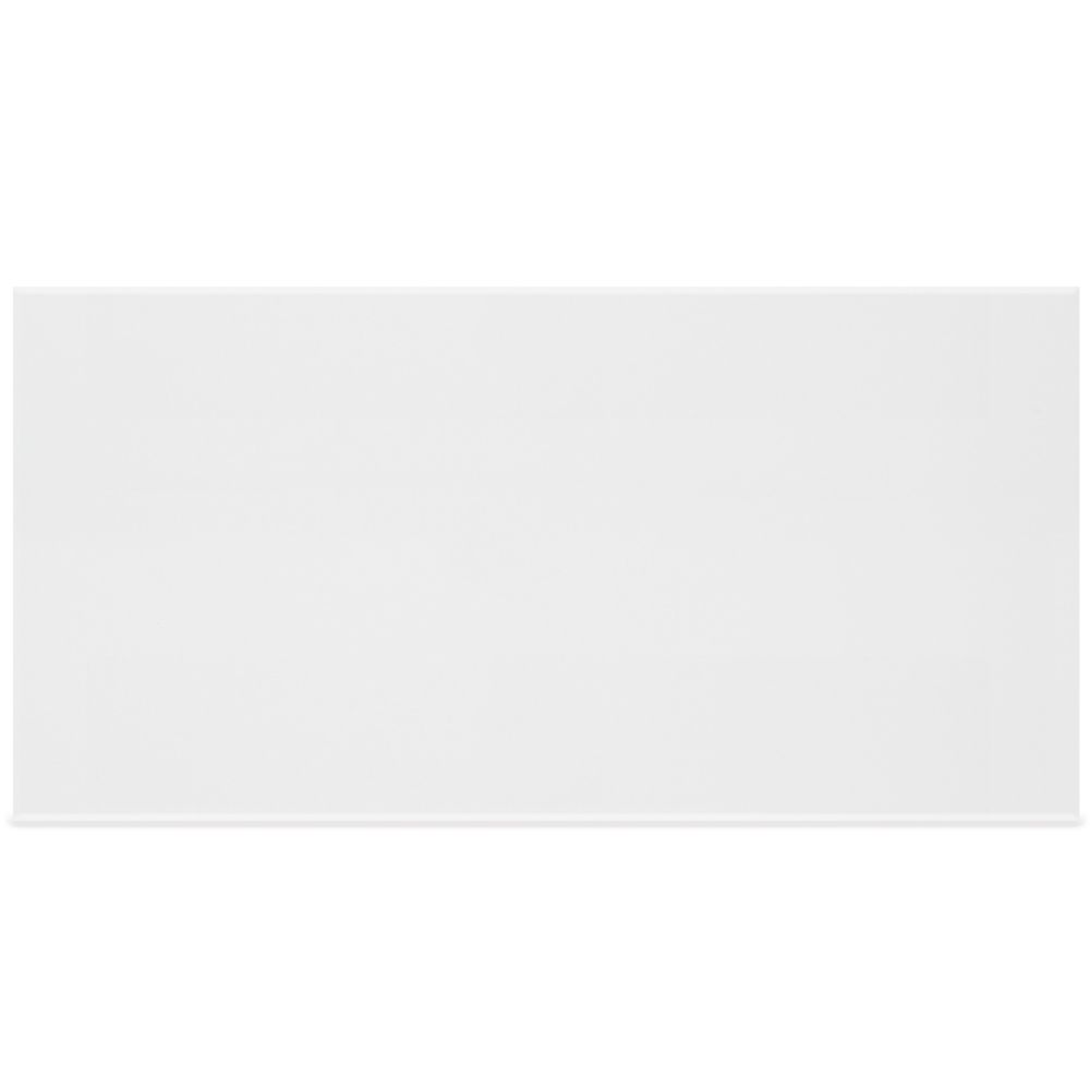12 inch x 24 inch metro rectified white gloss wall tile