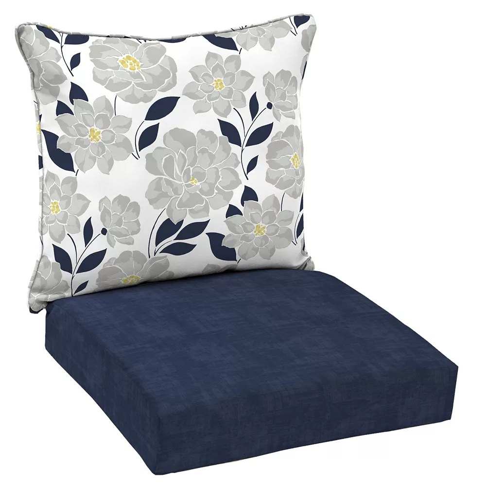 flower show 2 piece deep seating lounge chair cushion