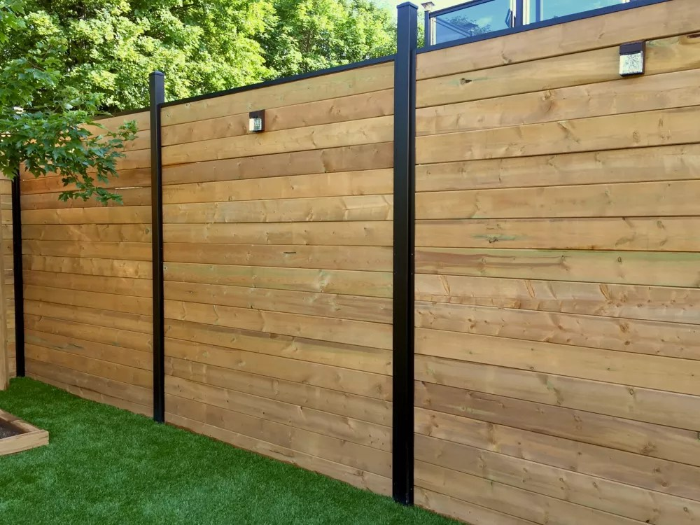 horizontal channel kit for 6 ft high fence