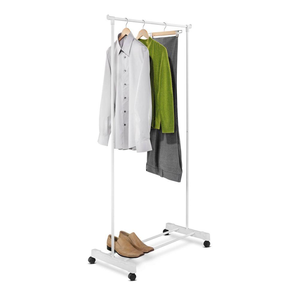 portable white garment rack
