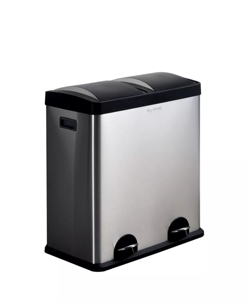 step n sort 60 litre 2 compartiment poubelle et recycle la poubelle