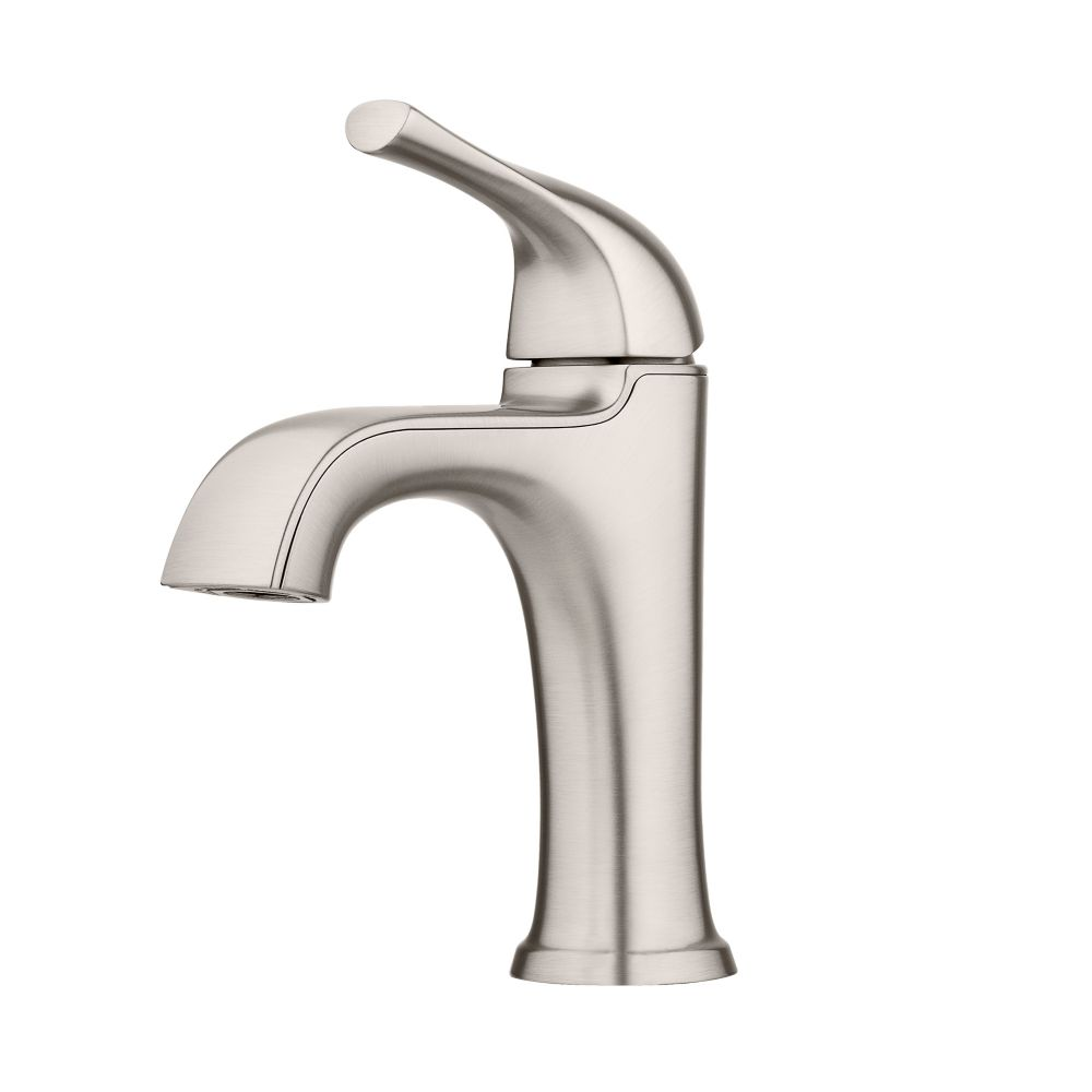 https www homedepot ca product pfister ladera single hole single lever bathroom faucet with deck plate in spot defense brushed nickel 1001097234