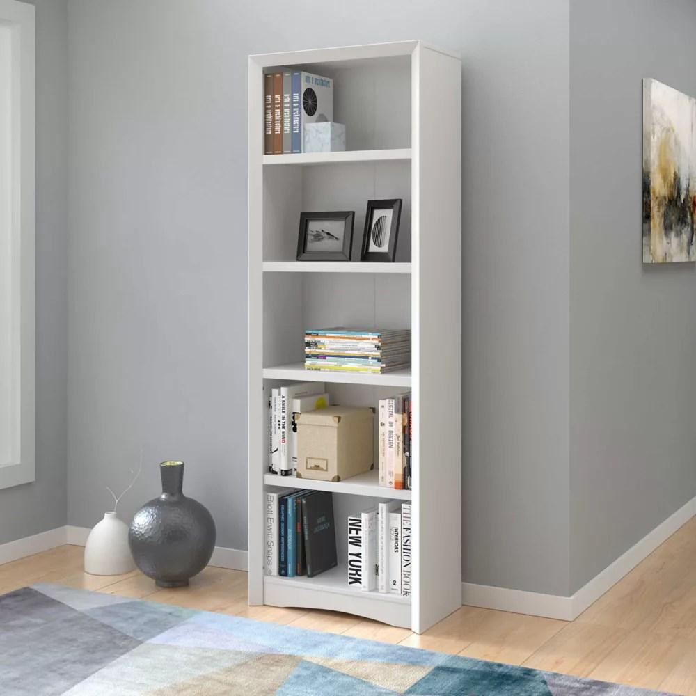 bibliotheque quadra 71 po avec faux fini de bois blanc