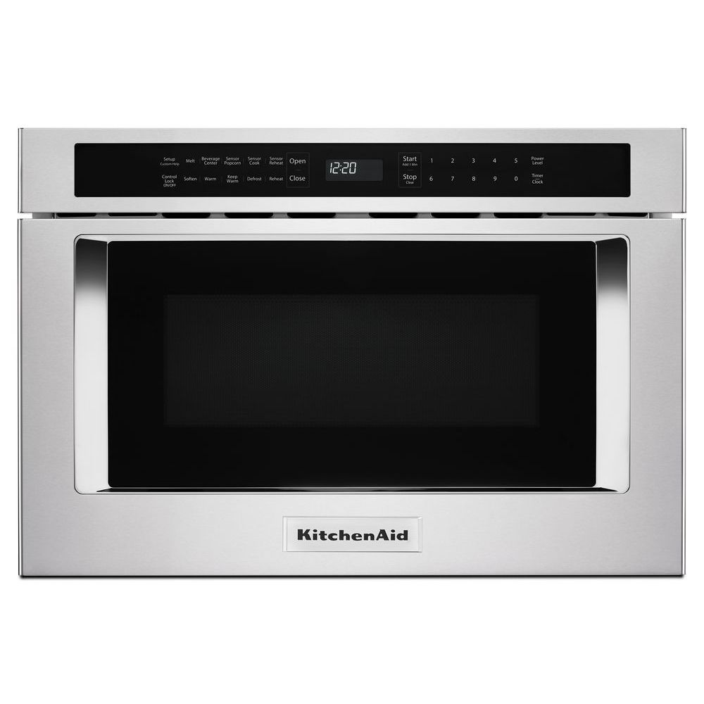 24 inch under counter microwave oven drawer in stainless steel
