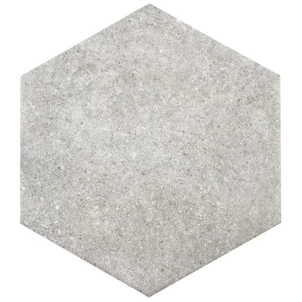 traffic hex grey 8 5 8 inch x 9 7 8 inch porcelain floor and wall tile 11 56 sq ft case