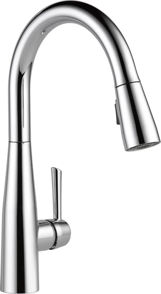 essa single handle pull down kitchen faucet chrome