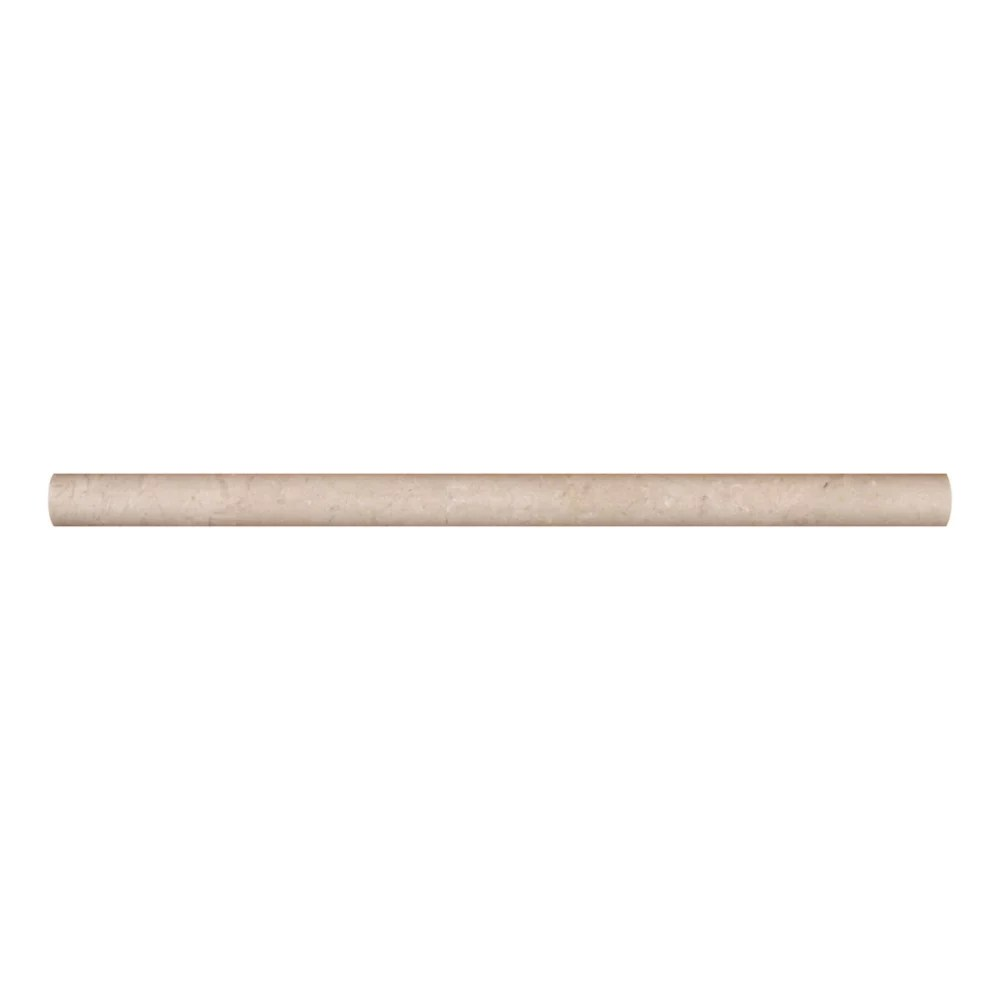 crema marfil 3 4 inch x 12 inch pencil molding polished marble wall tile 10 ln ft case