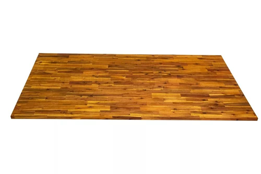 comptoir de cuisine en bois chene clair 74 po x 40 po x 1 po