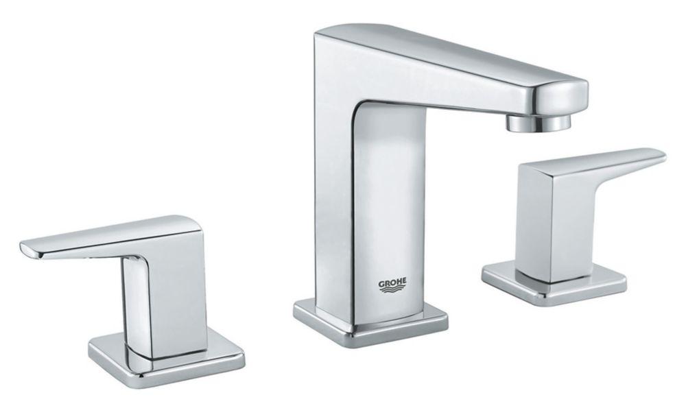 tallinn 8 inch widespread two handle bathroom faucet in starlight chrome