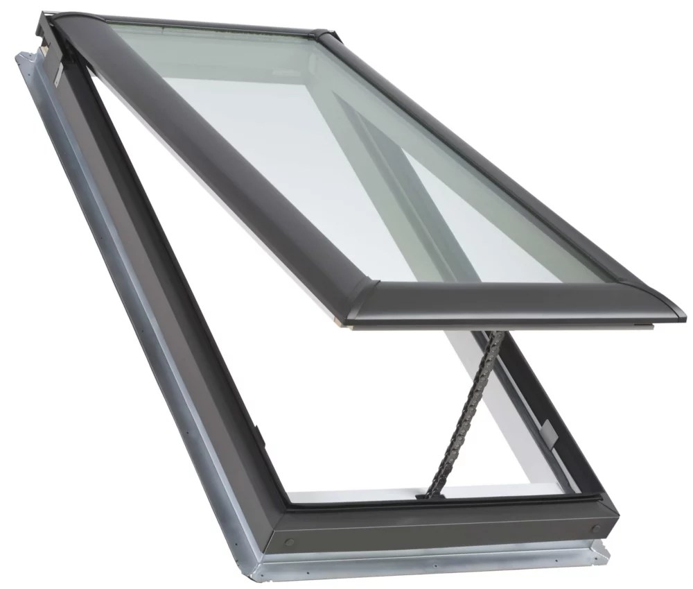 vse electric venting deck mount skylight size m06 outside frame 30 9 16 inch x 46 1 4 inch laminated loe3