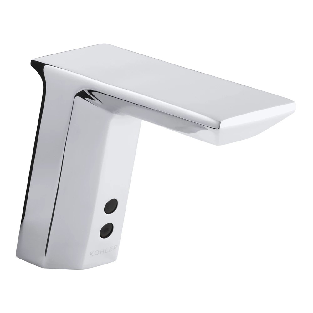 geometric single hole touchless tm dc powered commercial bathroom sink faucet with insight tm technology