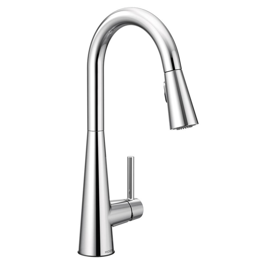 Moen Sleek Single Handle Pull Down Sprayer Kitchen Faucet With Reflex And Power Clean In C The Home Depot Canada
