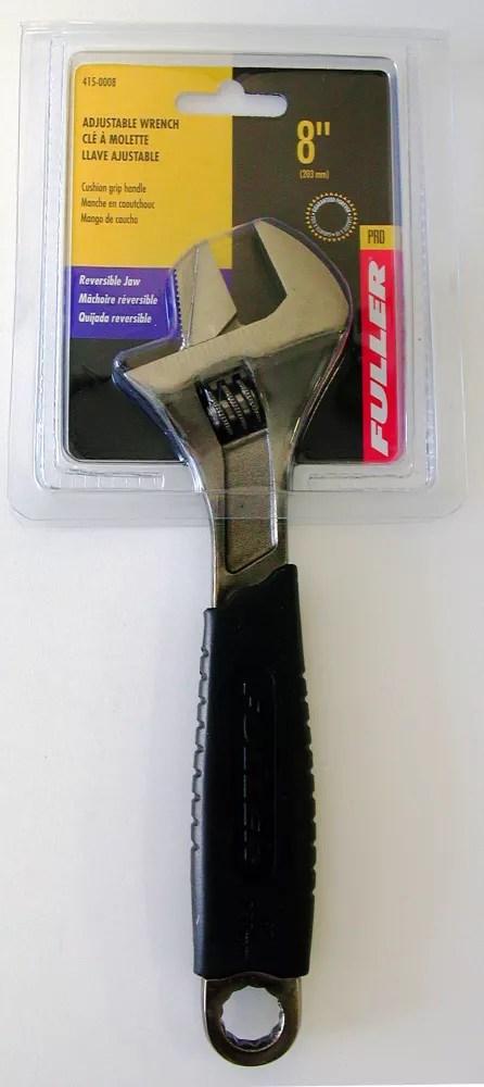 cle a molette ajustable de 8 pos de la serie pro avec tete a profil mince